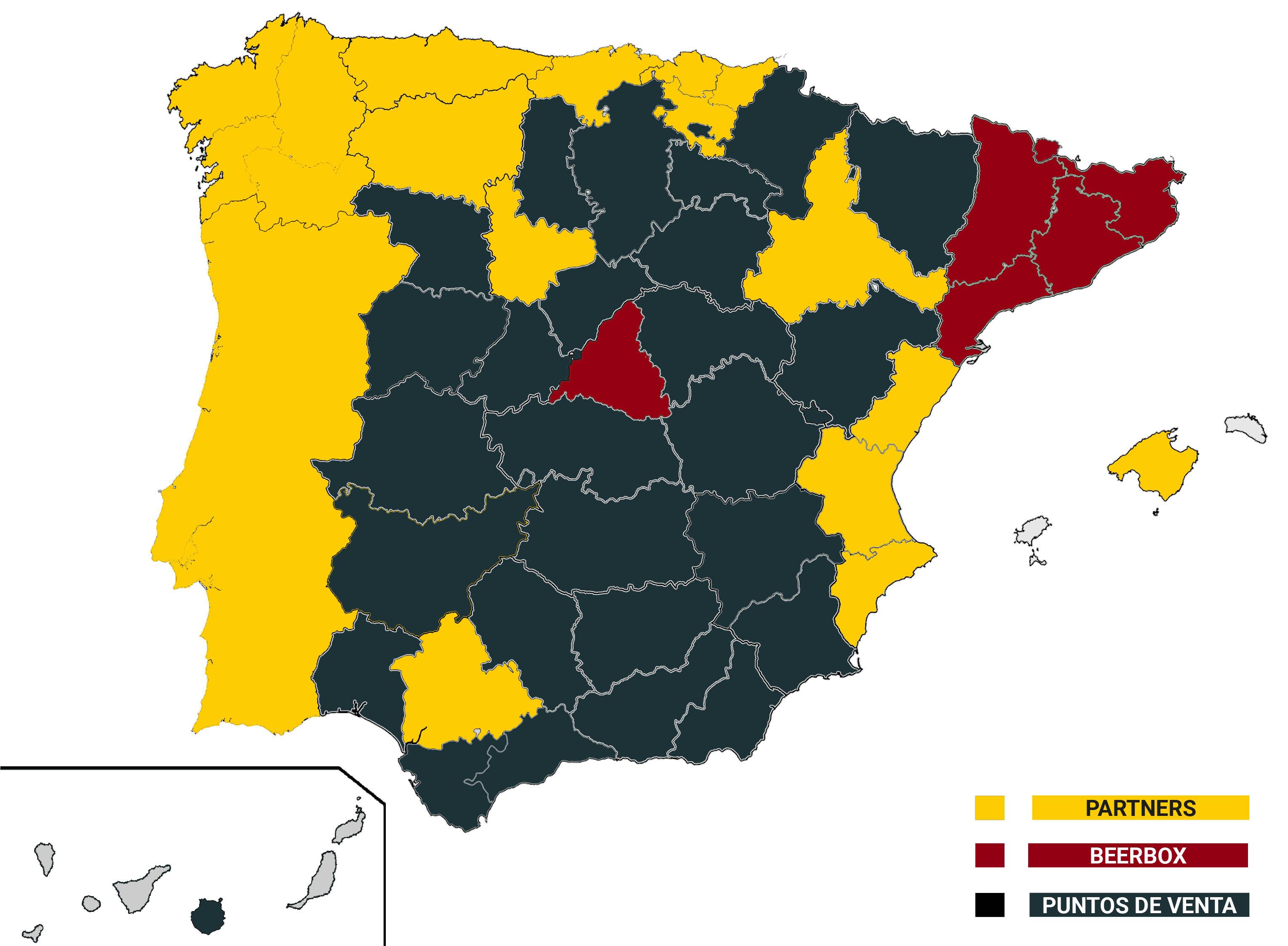 Mapa distribución 2019